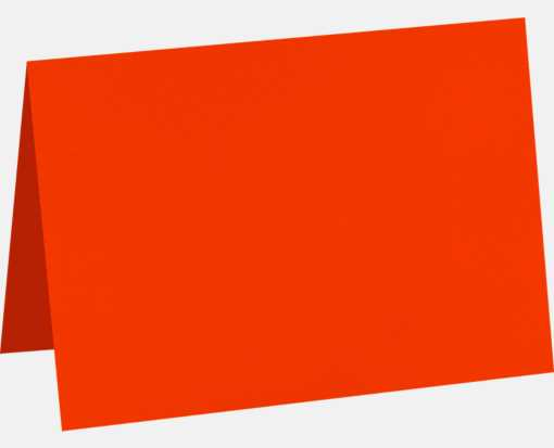 A7 Folded Card (5 1/8 x 7) Neon Red-Orange