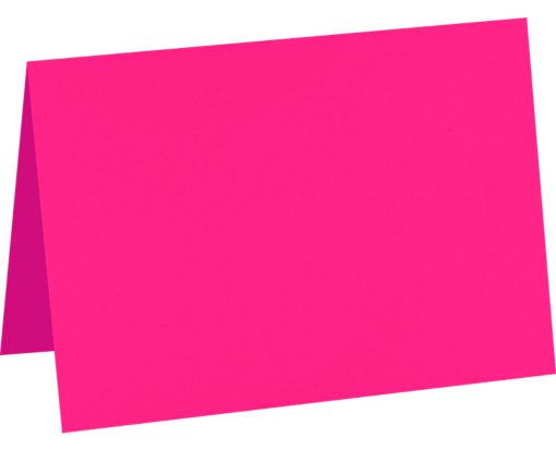 A7 Folded Card (5 1/8 x 7) Bright Fuchsia