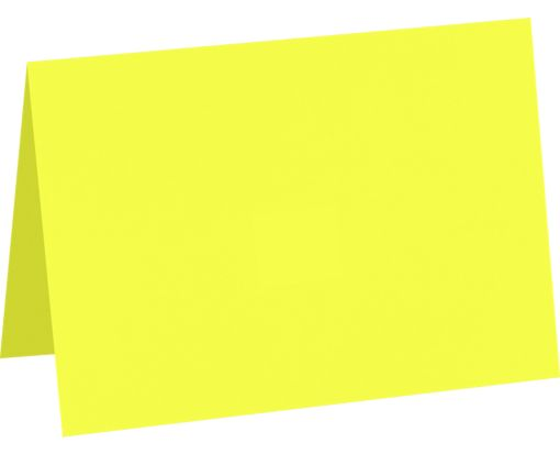 A7 Folded Card (5 1/8 x 7) Electric Yellow