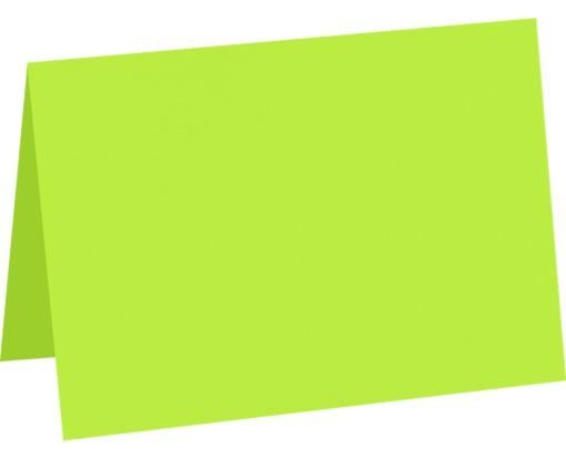 A7 Folded Card (5 1/8 x 7) Electric Green