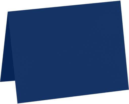 A9 Folded Card (5 1/2 x 8 1/2) Navy