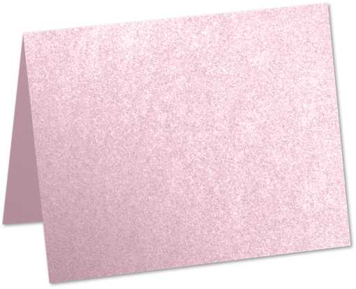 A9 Folded Card (5 1/2 x 8 1/2) Rose Quartz Metallic