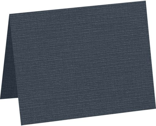A9 Folded Card (5 1/2 x 8 1/2) Nautical Blue Linen