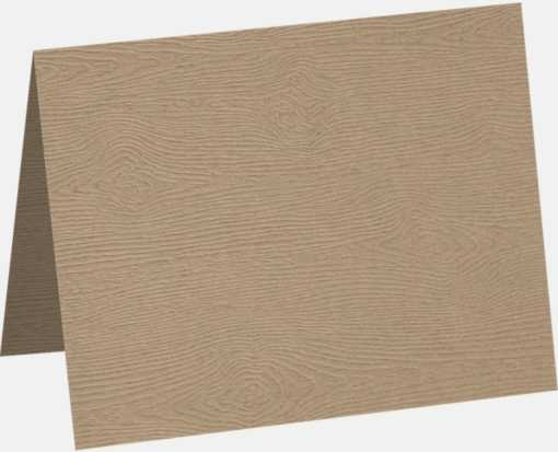 A9 Folded Card Oak Woodgrain