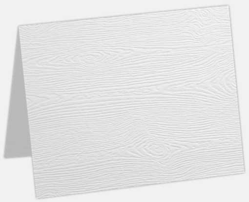 A9 Folded Card White Birch Woodgrain
