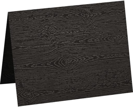 A9 Folded Card (5 1/2 x 8 1/2) Brasilia Black Woodgrain