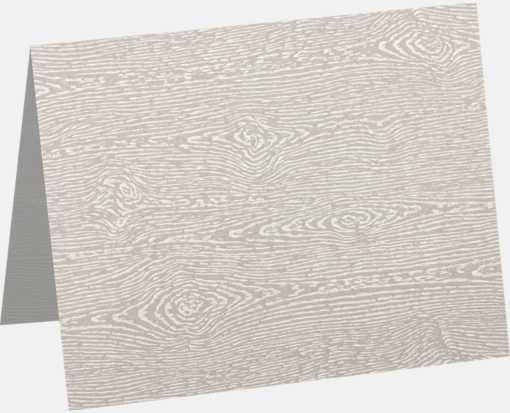 A9 Folded Card (5 1/2 x 8 1/2) Brasilia Gray Woodgrain