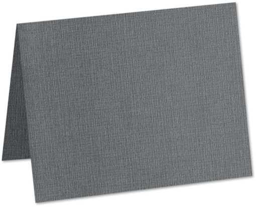 A9 Folded Card (5 1/2 x 8 1/2) Sterling Gray Linen