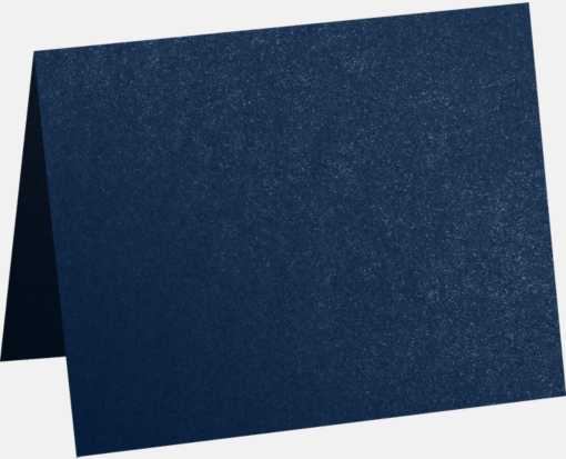 A9 Folded Card (5 1/2 x 8 1/2) Lapis Metallic - Stardream®