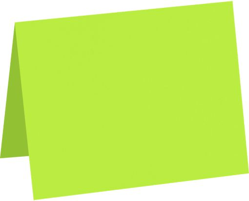 A9 Folded Card (5 1/2 x 8 1/2) Electric Green