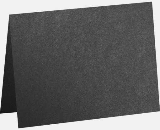 #17 Mini Folded Card (2 9/16 x 3 9/16) Anthracite Metallic