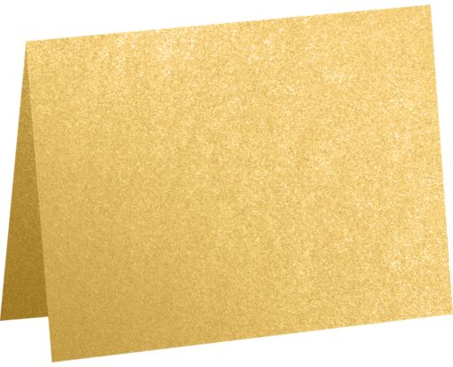 #17 Mini Folded Card (2 9/16 x 3 9/16) Gold Metallic