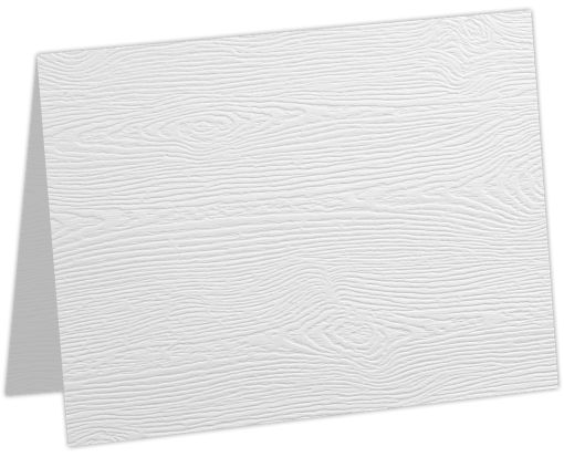 #17 Mini Folded Card White Birch Woodgrain