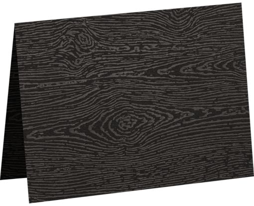 #17 Mini Folded Card (2 9/16 x 3 9/16) Brasilia Black Woodgrain