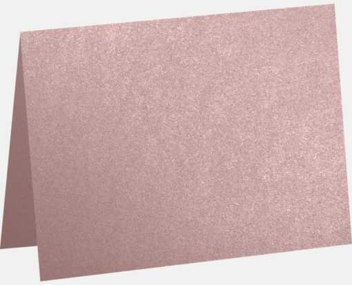 #17 Mini Folded Card (2 9/16 x 3 9/16) Misty Rose Metallic - Sirio Pearl®