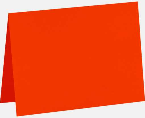#17 Mini Folded Card (2 9/16 x 3 9/16) Neon Red-Orange