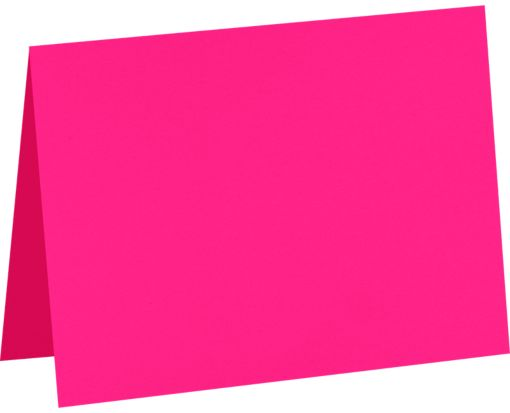 #17 Mini Folded Card (2 9/16 x 3 9/16) Bright Fuchsia