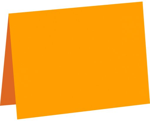 #17 Mini Folded Card (2 9/16 x 3 9/16) Electric Orange