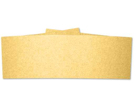 5 x 1 1/2 Belly Bands Gold Metallic