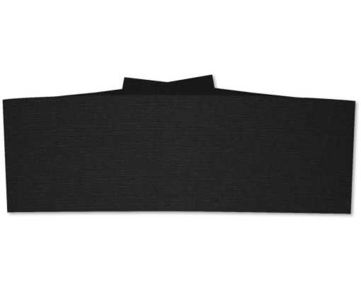 5 x 1 1/2 Belly Bands Black Linen