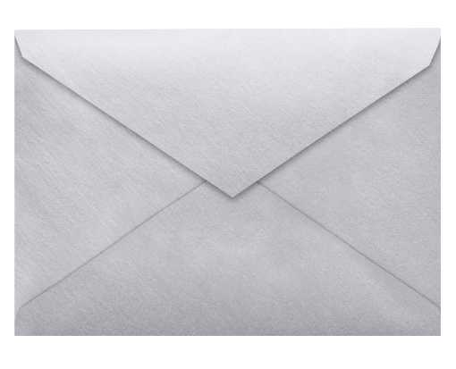 5 1/2 BAR Envelopes (4 3/8 x 5 3/4) Silver Metallic