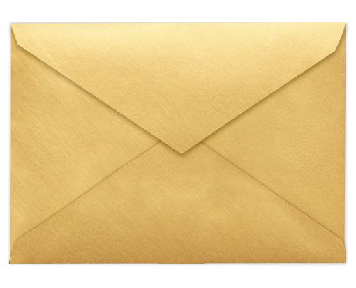 5 1/2 BAR Envelopes (4 3/8 x 5 3/4) Gold Metallic