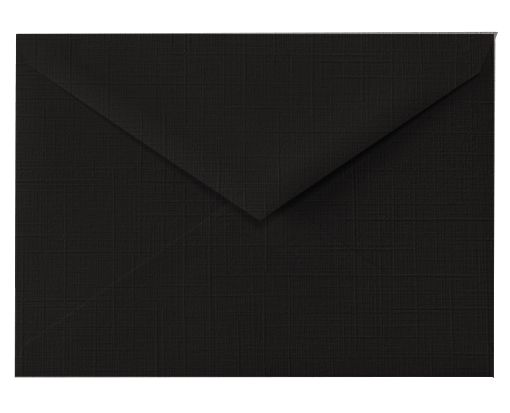 5 1/2 BAR Envelopes (4 3/8 x 5 3/4) Black Linen