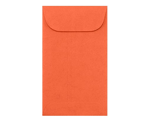 #5 1/2 Coin Envelopes (3 1/8 x 5 1/2) Bright Orange
