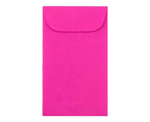 #5 1/2 Coin Envelopes (3 1/8 x 5 1/2) Bright Fuchsia