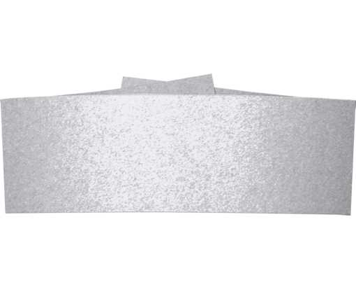 5 1/4 x 2 Belly Bands Silver Metallic