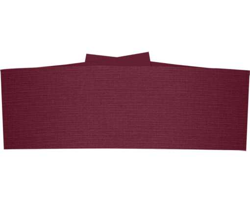 5 1/4 x 2 Belly Bands Burgundy Linen