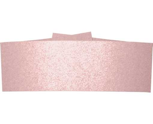 5 1/4 x 2 Belly Bands Misty Rose Metallic