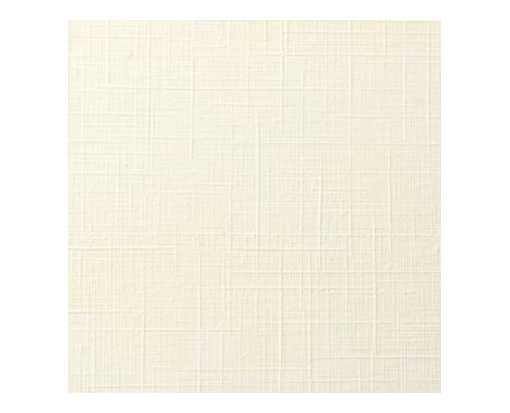 5 1/4 x 5 1/4 Square Flat Card Natural Linen