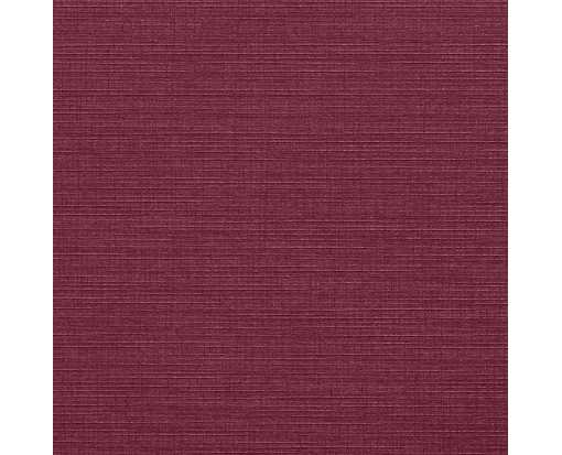 5 3/4 x 5 3/4 Square Flat Card Burgundy Linen