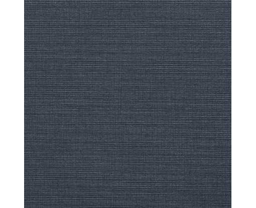 5 3/4 x 5 3/4 Square Flat Card Nautical Blue Linen