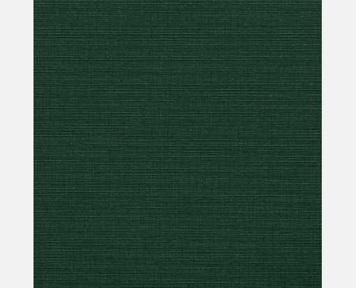 5 3/4 x 5 3/4 Square Flat Card Green Linen