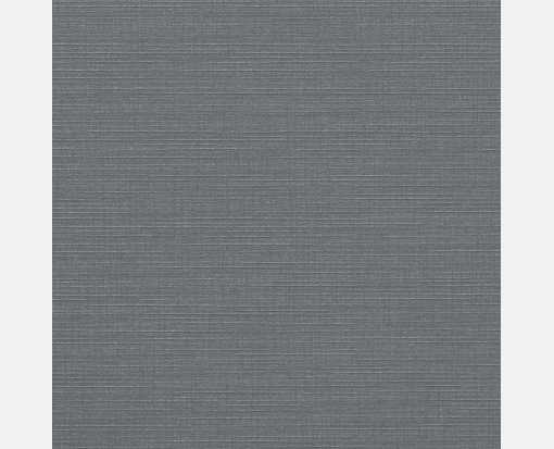 5 3/4 x 5 3/4 Square Flat Card Sterling Gray Linen