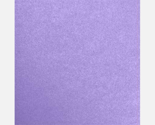 5 3/4 x 5 3/4 Square Flat Card Amethyst Metallic
