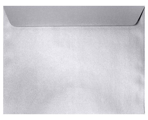 9 x 12 Booklet Envelopes Silver Metallic
