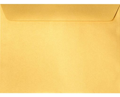 9 x 12 Booklet Envelopes Gold Metallic