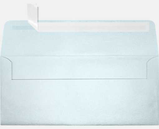 #10 Square Flap Envelopes (4 1/8 x 9 1/2) Aquamarine Metallic