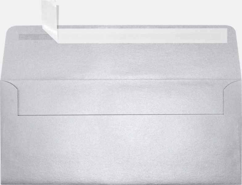 silver metallic 10 envelopes square flap 4 1 8 x 9 1 2
