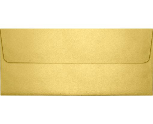 #10 Square Flap Envelopes (4 1/8 x 9 1/2) Gold Metallic