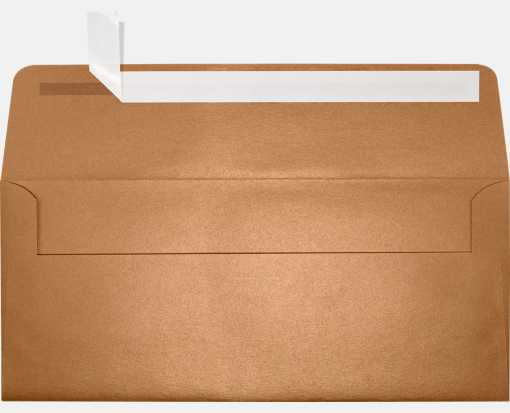 #10 Square Flap Envelopes (4 1/8 x 9 1/2) Copper Metallic