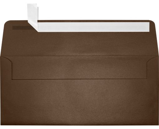 #10 Square Flap Envelopes (4 1/8 x 9 1/2) Bronze Metallic
