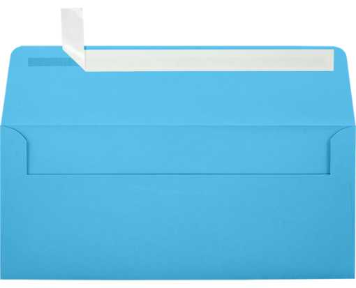 #10 Square Flap Envelopes (4 1/8 x 9 1/2) Bright Blue