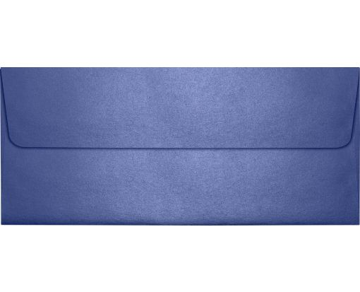 #10 Square Flap Envelopes (4 1/8 x 9 1/2) Sapphire Metallic