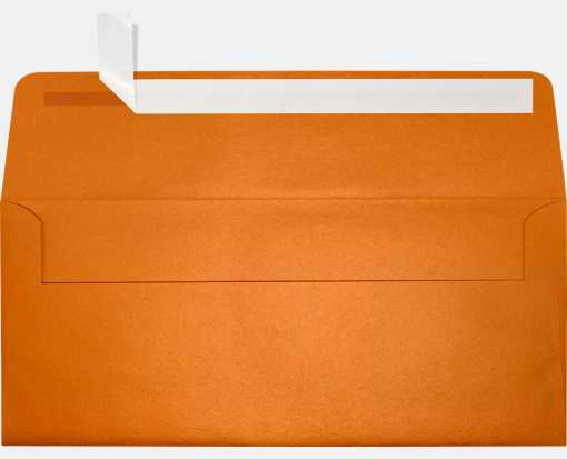 #10 Square Flap Envelopes (4 1/8 x 9 1/2) Flame Metallic