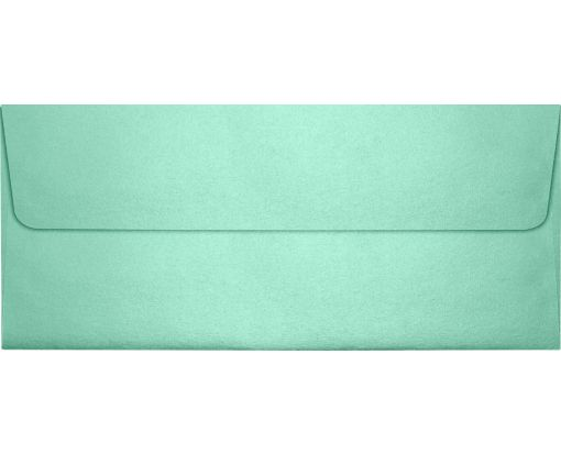 #10 Square Flap Envelopes (4 1/8 x 9 1/2) Lagoon Metallic