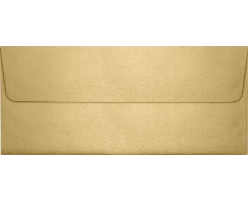 #10 Square Flap (4 1/8 x 9 1/2) Blonde Metallic